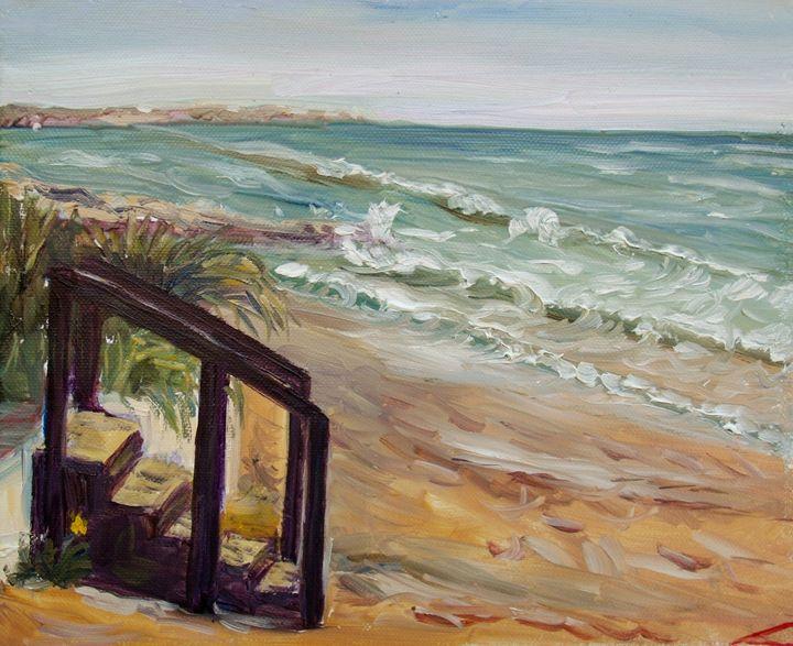 Sicilian beach - Elena Sokolova art