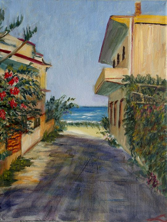 The street of Calabernardo - Elena Sokolova art