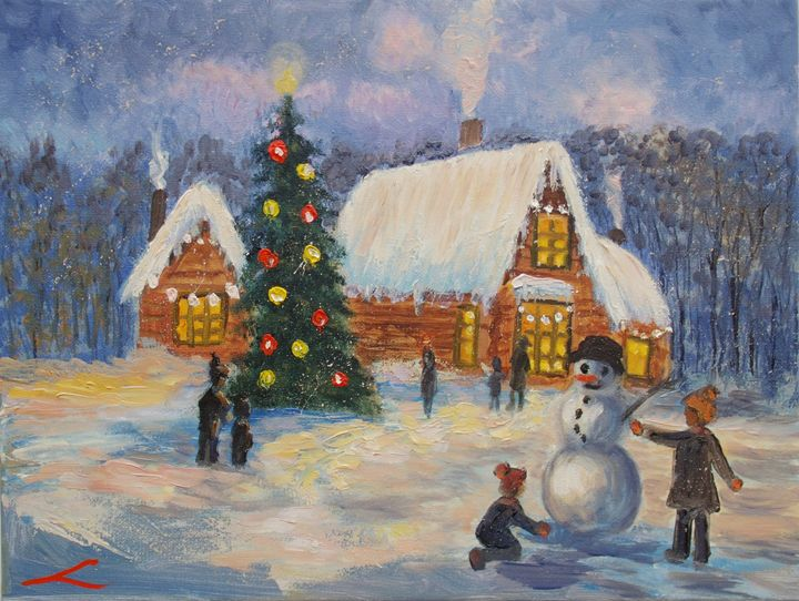 Christmas games - Elena Sokolova art
