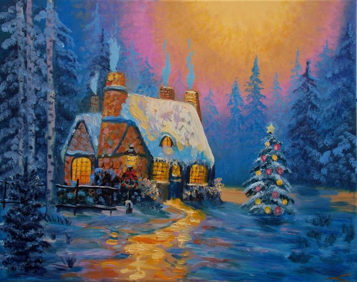 Christmas house - Elena Sokolova art