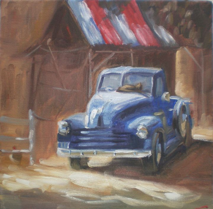 Painting Old Car Art