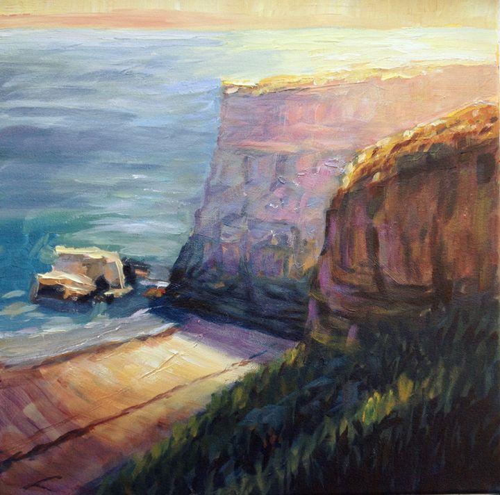 California cliffs - Elena Sokolova art