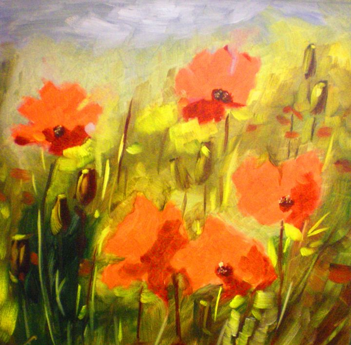 Poppies - Elena Sokolova art