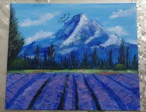 Lavender Field painting