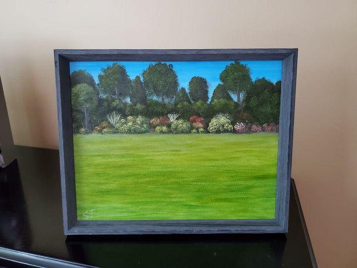 'Open Field', Original Oil Painting - Steve Joseph Landscape Art