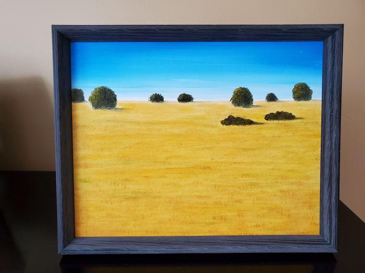 Yellow Field - Steve Joseph Landscape Art