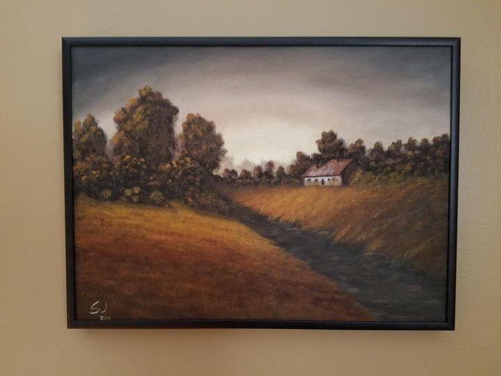 Fall Farmhouse - Steve Joseph Landscape Art