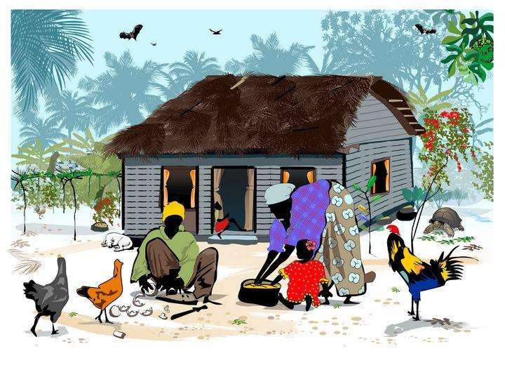 "Island Life Old house seychelles - Michael Arnephie ""Island Life Seychelles"""