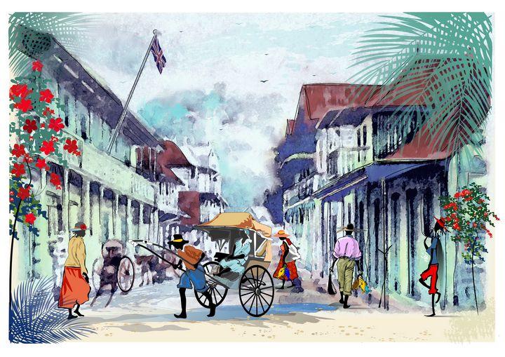 "old Victoria Seychelles - Michael Arnephie ""Island Life Seychelles"""