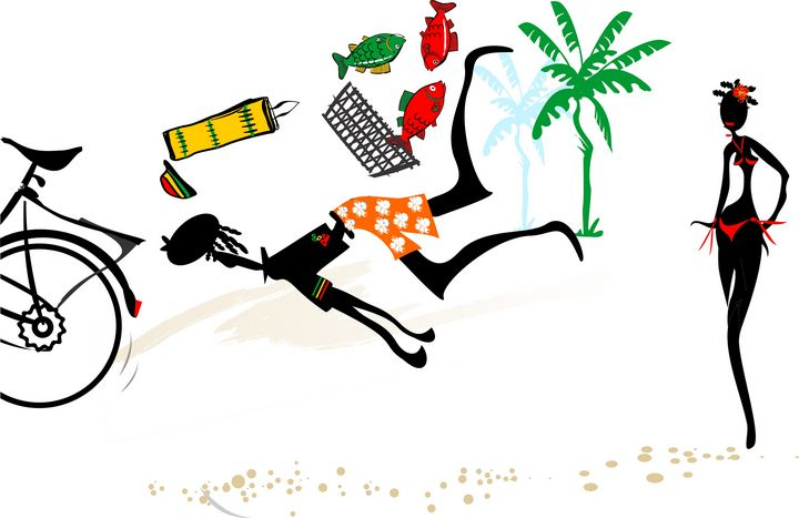 "Bakailo la digue seychelles 3-3 - Michael Arnephie ""Island Life Seychelles"""