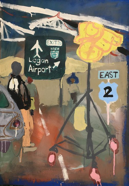 Logan Airport Diptych - Cint Clare