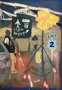 Logan Airport Diptych