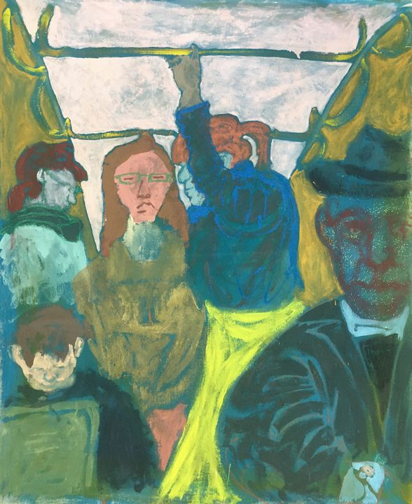 On the tram - Cint Clare