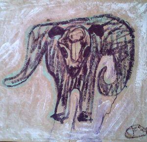 Brown scribble Bullroarer