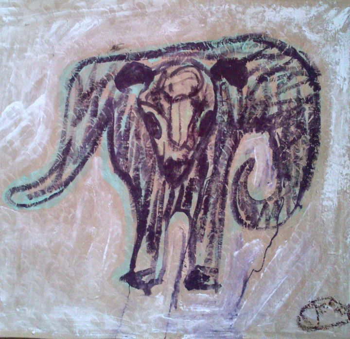 Brown scribble Bullroarer - Cint Clare