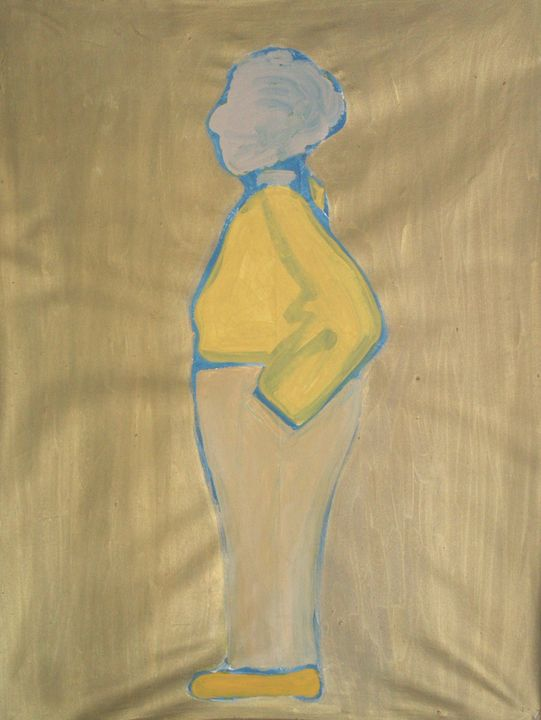 Yellow Standing Woman - Cint Clare
