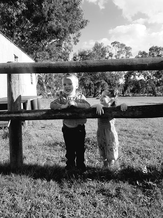 Brother and sister country life. - Nellie's pics
