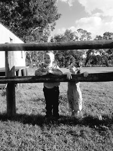 Brother and sister country life.