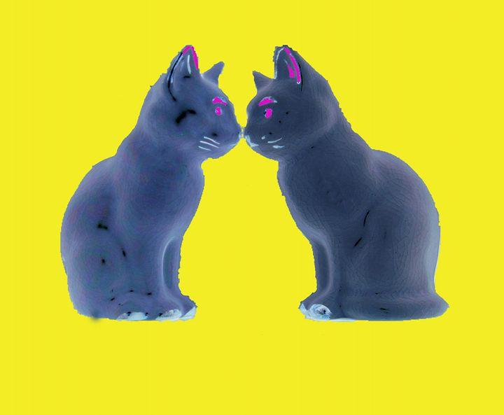 Blue Kissing Cats - Arbjune