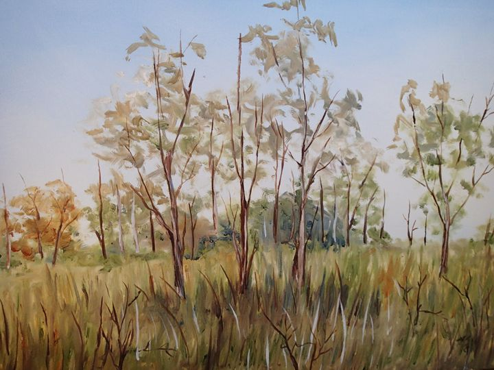 Gum Tree Landscape - Alice's Brush Strokes Art
