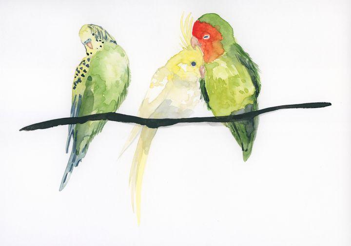 Birds on a stick - ElineMoos
