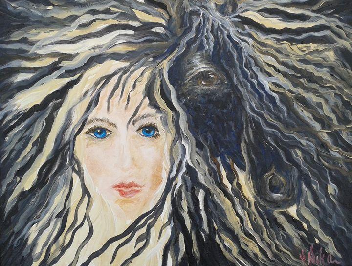 """""""White Lady Black Horse"""" - Nika Andreiko"""