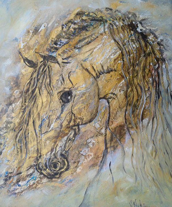 """Horse in Gold"" - Nika Andreiko"