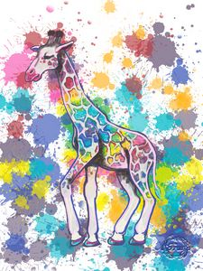 Colorful Giraffe #1