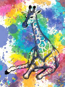 Colorful Giraffe #2