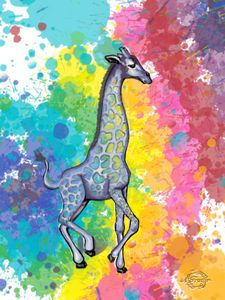 Colorful Giraffe #3