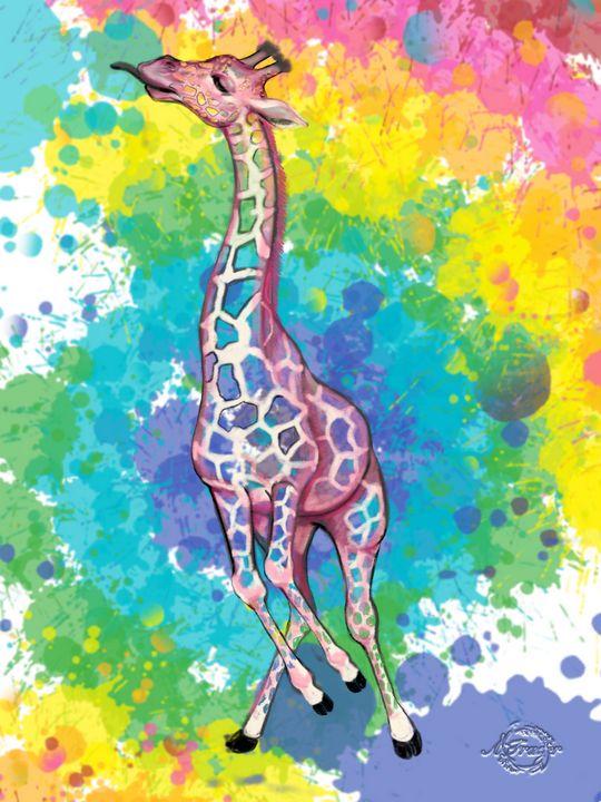 Colorful Giraffe #4 - The Artsi Farmer
