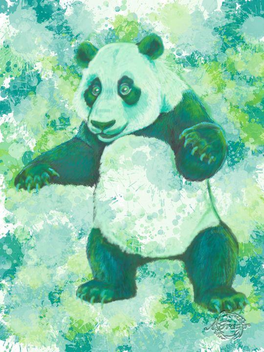 Panda in Green - The Artsi Farmer