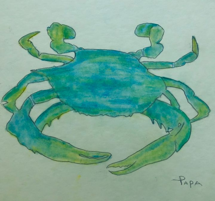 Blue crab - Art by Sam Papa