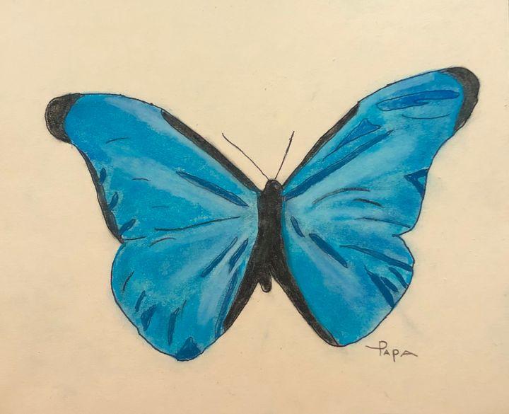 Butterfly blue. - Art by Sam Papa