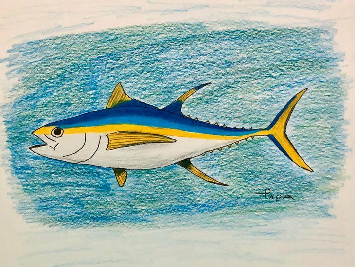 Yellow fin tuna - Art by Sam Papa