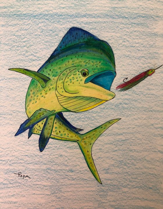 Mahi strike - Art by Sam Papa