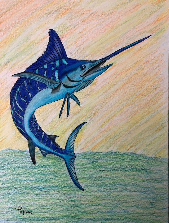 The mighty Marlin - Art by Sam Papa