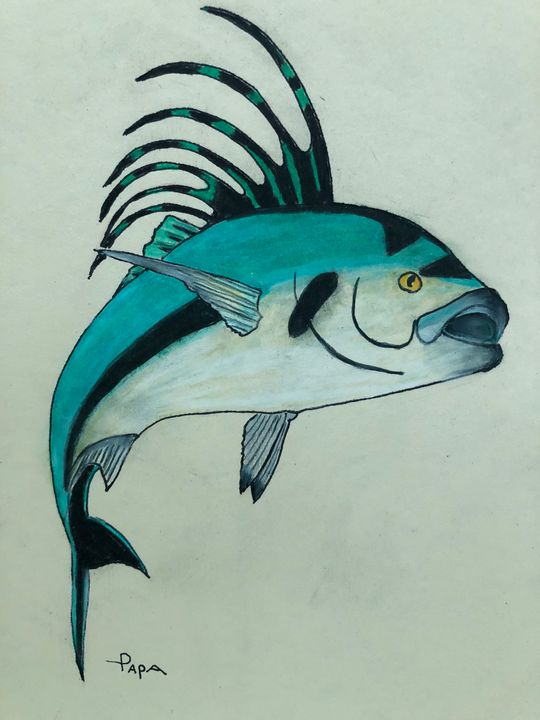 Rooster fish - Art by Sam Papa