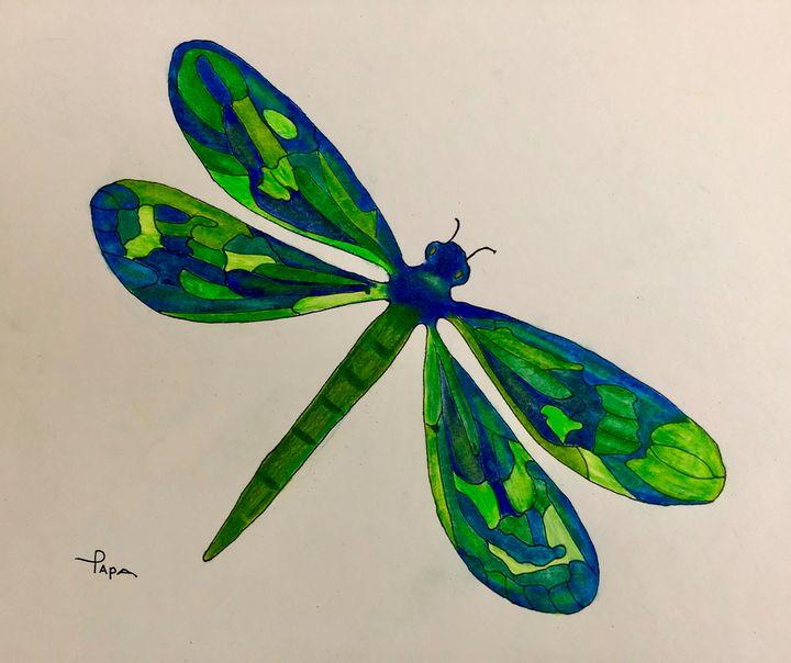 Dragonfly - Art by Sam Papa