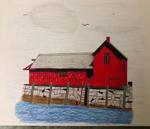 Little red fishing shack in Rockport