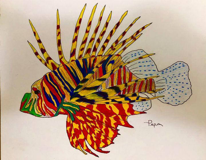 Lion fish - Art by Sam Papa