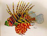 Original lion fish print