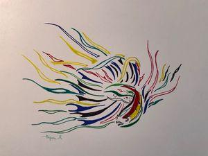 Abstract betta fish