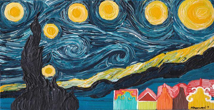 Starry Night with Handelskade - Dhan Arts