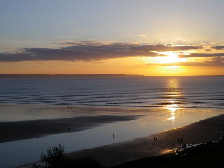 SAUNTON SANDS BEACH SUNSET DEVON - Richard Brookes Photography