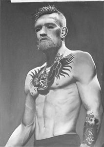 Conor McGregor Photorealistic Drawin