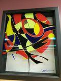 Painting on acrylic sheet