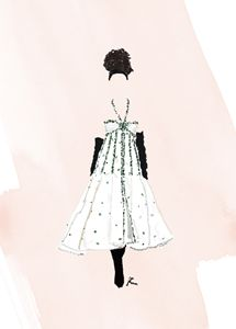 Fashion Illustration Chanel Couture