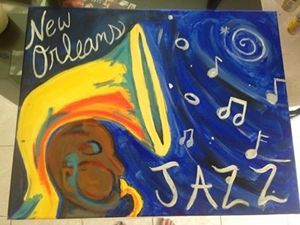 New Orleans Jazz Painting