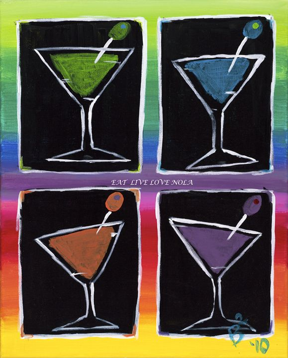 New Orleans Martini Party PRINT - Eat.Live.Love.NOLA